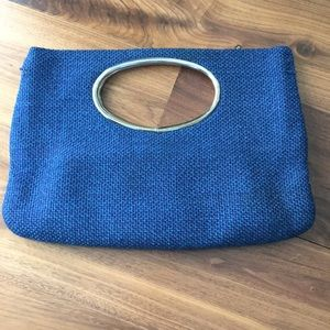 Vintage Circle Handle Handbag / Purse